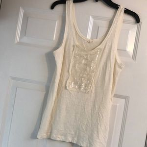 Fabulous classic tank with front sequins